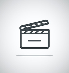 Modern media web icon Movie clap vector