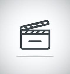 Modern media web icon Movie clap vector image