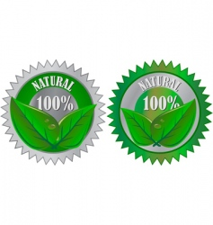 natural eco product labels vector image