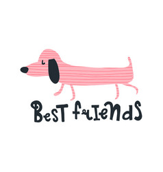 pink friend dog vector image