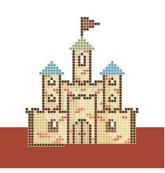 Pixel-castle vector