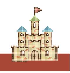 Pixel-castle vector
