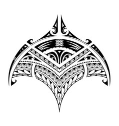 Polynesian ethnic style tattoo for bicep area vector