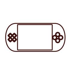 Portable console videogame vector
