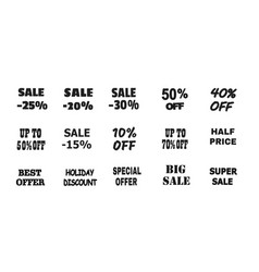 Promotional offers seasonal and holiday sale vector