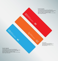 Rhombus template consists of three color parts on vector