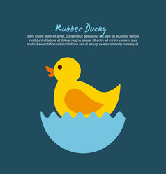Rubber ducky cartoon vector
