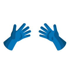 rubber gloves icon flat style vector image