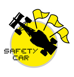 safety car symbol vector image