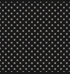 seamless pattern simple outline squares vector image