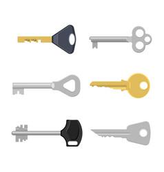 set of keys for locks and doors vector image