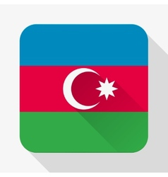 Simple flat icon Azerbaijan flag vector image