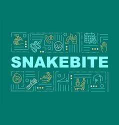 Snakebite first aid bitten wound medication vector