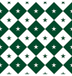 Star Green White Chess Board Diamond Background vector