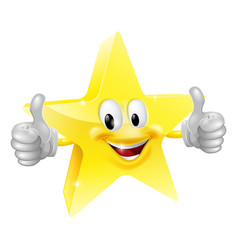 Star mascot vector