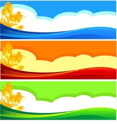 summer vacation banners vector image