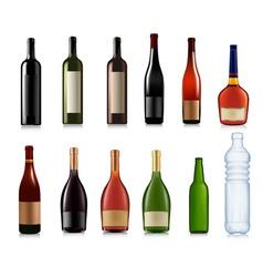Super set of bottles vector