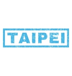 Taipei Rubber Stamp vector image