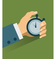 Time management modern vector image