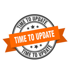 Time to update label time to update orange band vector