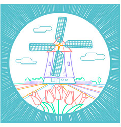 Traditional holland icon vector