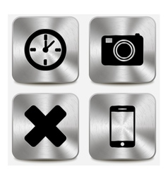 Web icons on metallic buttons set vol 7 vector
