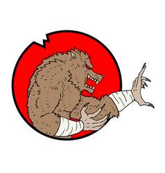 wolf man icon vector image