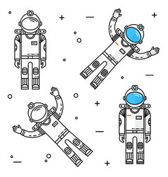 astronaut in space human mission to mars vector image