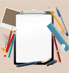 clipboard composition vector image vector image