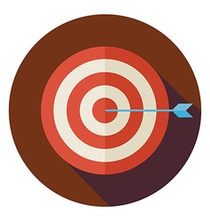 Flat Business Success Target Circle Icon with Long vector image vector image