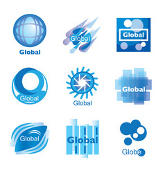global network set vector image