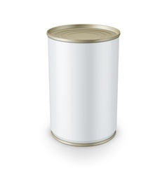 Tin can isolated on white background vector image vector image