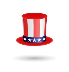 American gentleman hat cylinder with ribbon vector