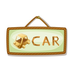 board and car vector image vector image