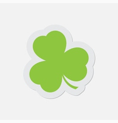 simple green icon - shamrock vector image