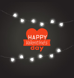 valentines greeting card happy valentines day vector image