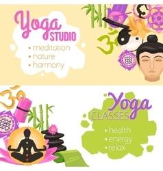 Yoga Banners Horizontal vector image