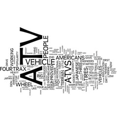 Atv history text background word cloud concept vector
