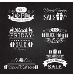 Black Friday Sale Calligraphic Designs set on vector image