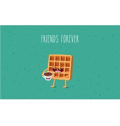 Coffee waffel vector image vector image