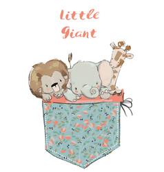 little pocket animals vector image vector image