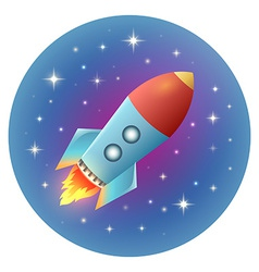 Rocket Detailed vector image vector image