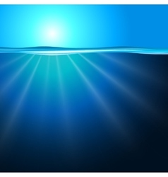 Sea background with sunbeam vector image vector image