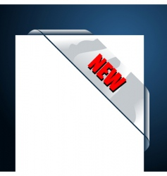 transparent corner business ribbon vector image