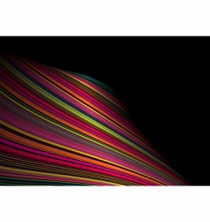 twisted rainbow wave vector image vector image