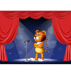 A tiger in the stage vector image vector image