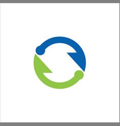 circle arrow infinity logo vector image