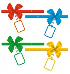 collection of ribbons with labels vector image vector image