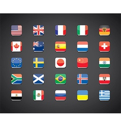 flags apps set vector image