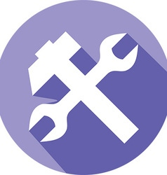 Hammer Wrench Icon vector image vector image